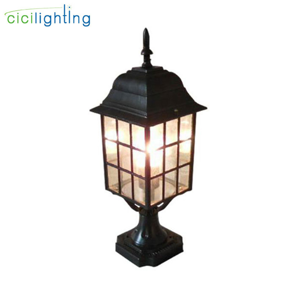 Black waterproof outdoor lamp post lights IP54 Farmyard pillar lights residential villa wall post lighting walkway exterior lamp outdoor small column courtyard wall lamp post villa exterior wall lamp lu8141400