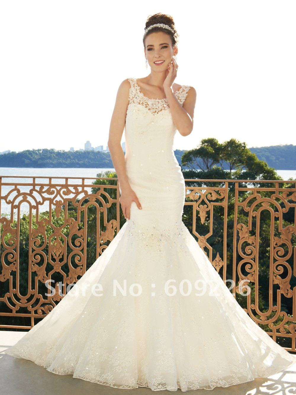 hot sell nw style lace mermaid backless wedding gowns