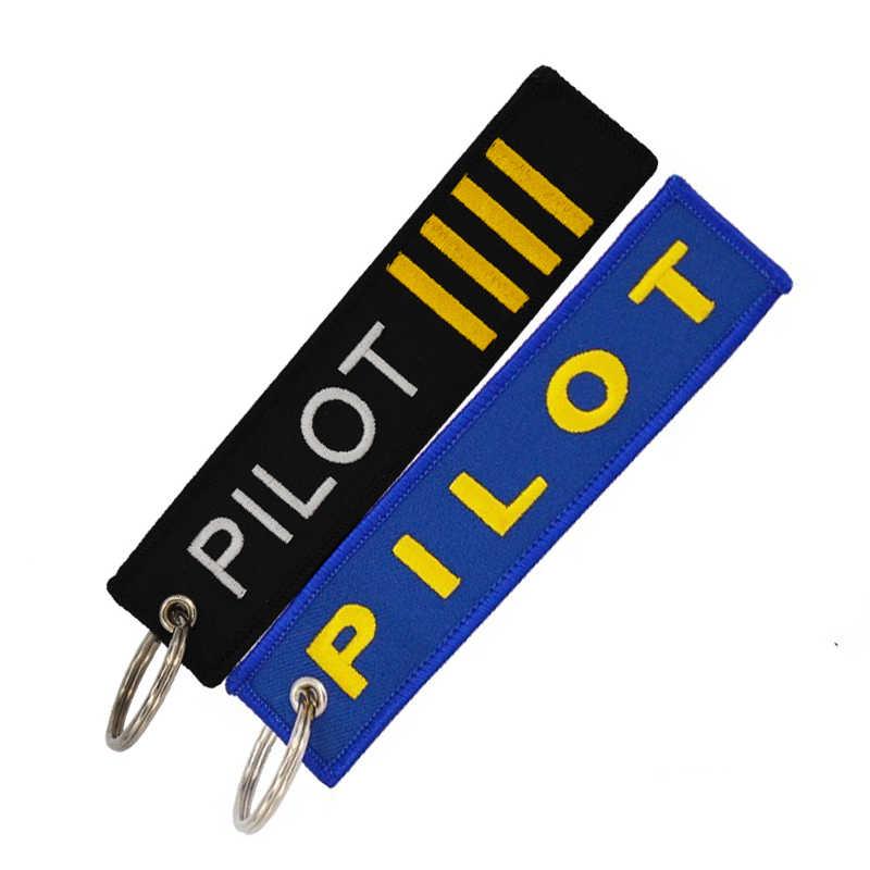 POMPON Pilota di Modo Anello Portachiavi Per I Regali personalizza il ricamo Portachiavi Portachiavi per Auto e Moto chiave anello Dei Monili