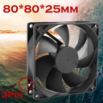 cpu cooler master rgb cooling fan Quiet 8cm/80mm/80x80x25mm 12V Computer/PC/CPU Silent Cooling Case Fan Black with 3PIN image