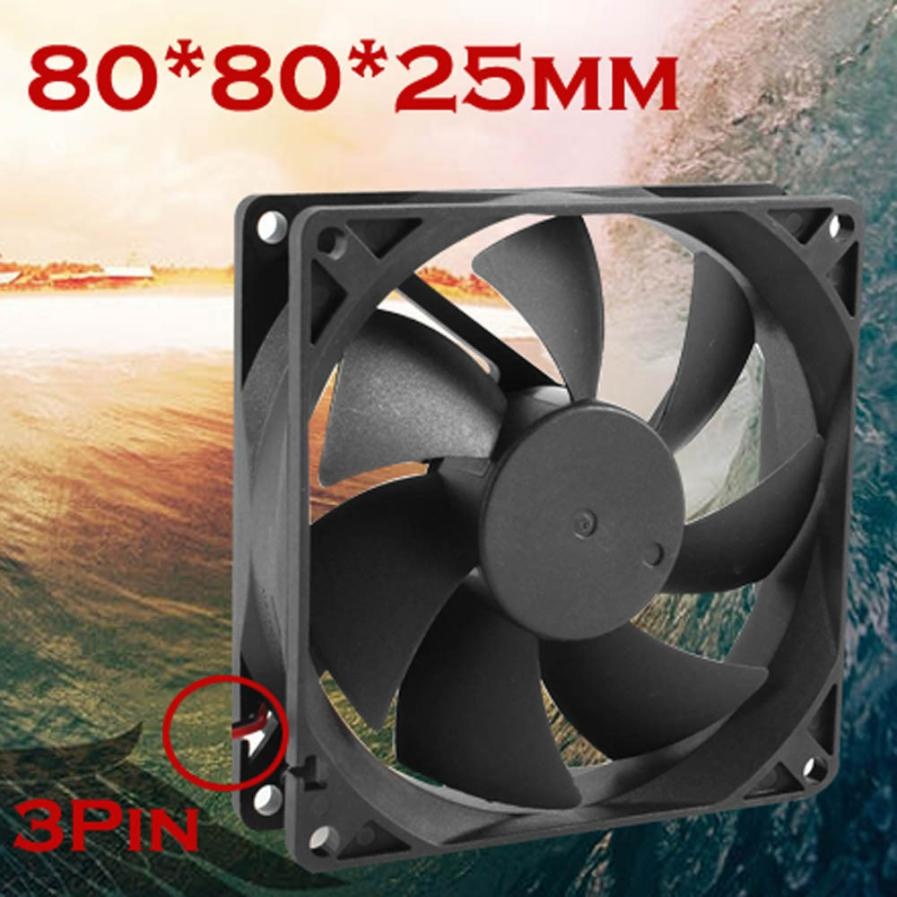 cpu cooler master rgb cooling <font><b>fan</b></font> Quiet 8cm/<font><b>80mm</b></font>/80x80x25mm <font><b>12V</b></font> Computer/<font><b>PC</b></font>/CPU Silent Cooling Case <font><b>Fan</b></font> Black with 3PIN image