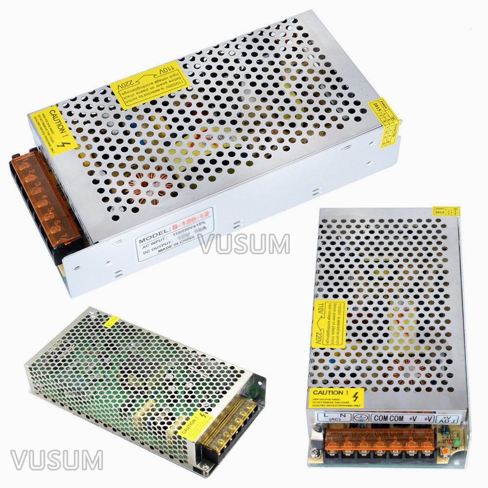vusum Switching Led power supply 5V Transformer 110V 220V AC to DC 5V 2A 6A 10A 20A 30A 40A 50A 60A 72A Driver