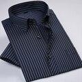2017 New Design Listrado Camisas Dos Homens Camisas de Vestido do Negócio Dos Homens de Moda de Verão de Manga Curta Camisa Ocasional Qualidade Superior 9 Cores