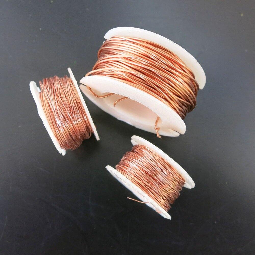 Чистый Медный провод 0.1 мм 0.2 мм 0.5 мм DIY Материал сварки Провода для модели Запчаст ...