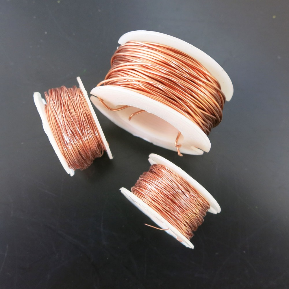 Pure Copper Wire 0.1mm 0.2mm 0.5mm DIY Material Sealing Welding Wire for Model Parts Accessories Magnet Wire Electricity Model