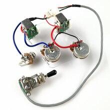 Электрогитара для захвата, 1 комплект, LP, G, жгуты проводки, кнопочный переключатель потенциометра для Epi, без сварки