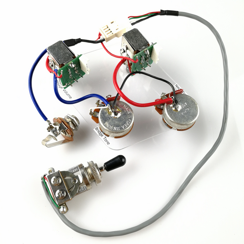 1 Set LP SG Electric Guitar Pickup Wiring Harness Push Pull Switch Potentiometers For Epi No welding