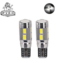 2 Pcs T10 Car LED Turn Signal lights 5630 W5W 192 194 10 SMD 12V White Canbus No error Wedge Parking Dome Light Marker Bulb