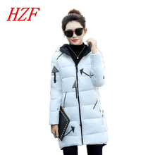 2017 New Jacket Women Winter Coat Medium-Long Cotton Padded Warm Jacket Coat High Quality Hot Sale Women Coat Slim Parkas