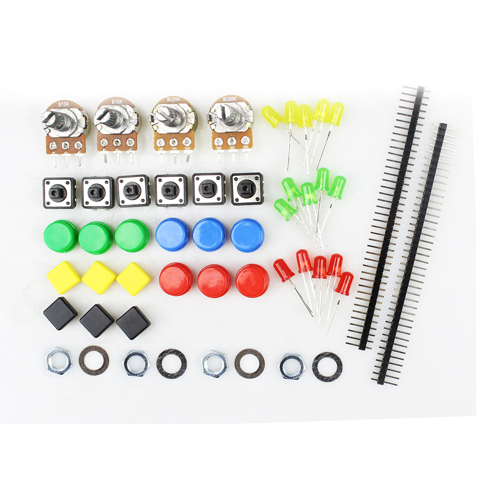 Demo Board & Accessories 1 Set Portable Diy For Arduino Starter Kit Uno R3 Led Potentiometer Tact Switch Pin Header Resistor Kit Compatile With Uno R3