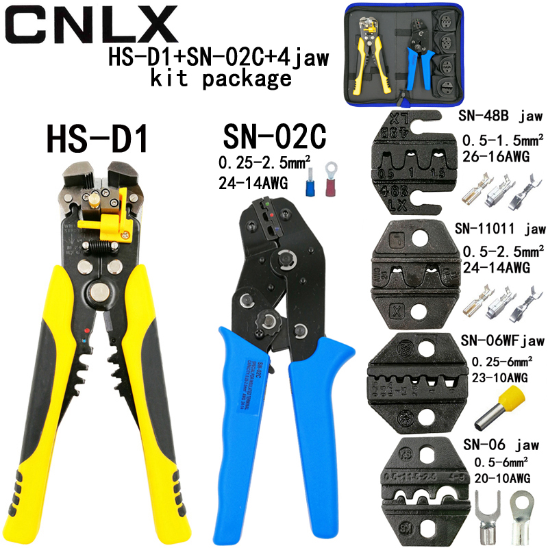 SN-02C crimping pliers D1 wire cutting stripper pliers for insulation non-insulation terminal box SN-48B/11011/06WF/06 jaw tools цена