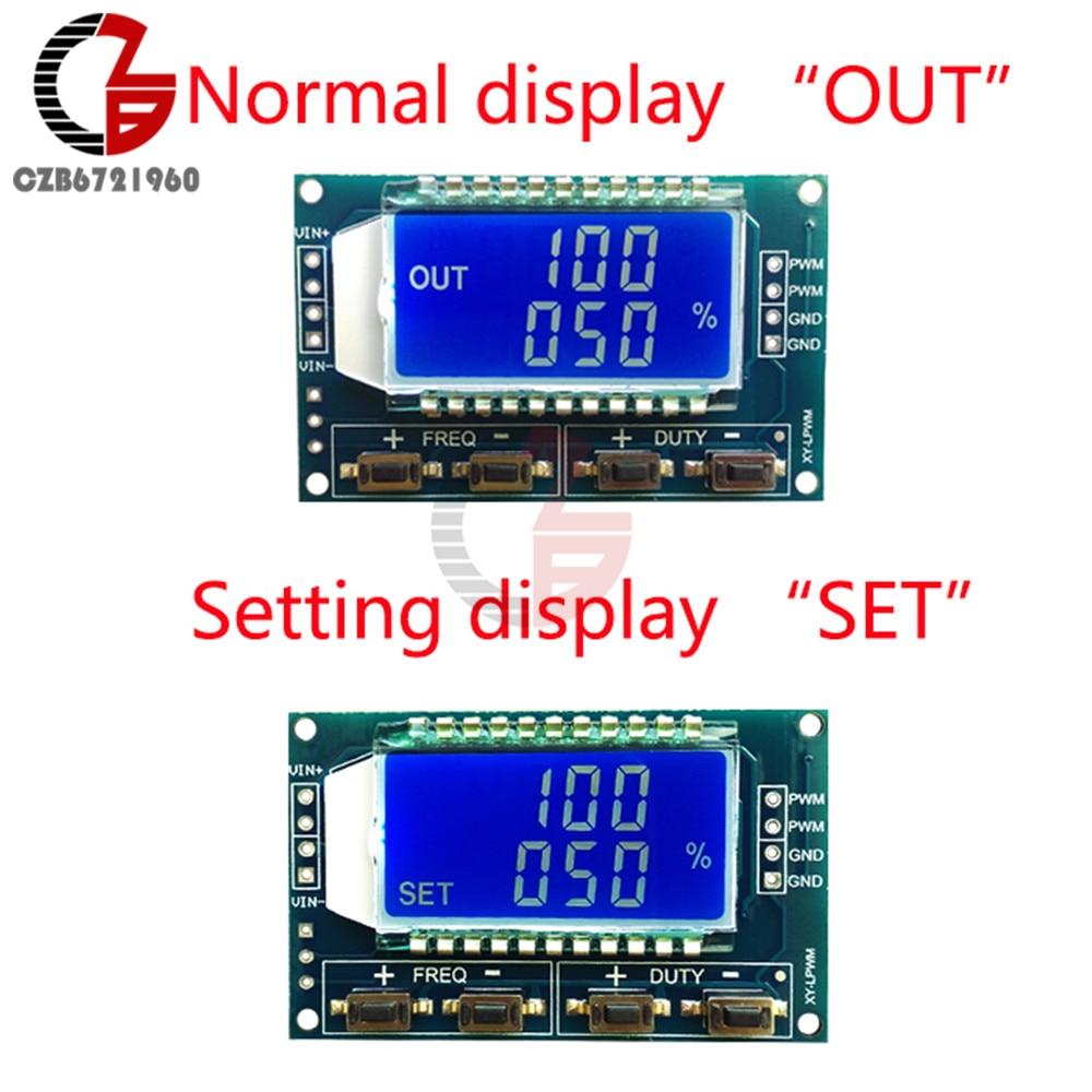 1 Гц-150 кГц модуль генератора сигналов Регулируемый ШИМ функция частоты импульса генератор рабочий цикл ttl жк-дисплей 5 в DC 12 В 24 В
