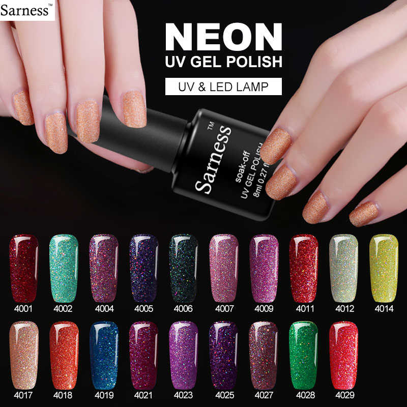 Sarness Colorful Neon UV Gel Nail Polish Rendam Off Withe Gel Tahan Lama Gel Lacquer DIY Hybrid 3D Kuku seni Dekorasi