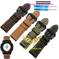 2016 NEW 26MM Garmin Derek Fenix3 Fenix 3 watch band Crazy Horse Leather Watchband Free shipping