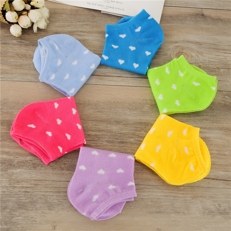 Free shipping women cotton socks 10 Candy Colored Female Casual Sock heart Love shape Cute Socks Ladies cheap good quality S80 in Socks from Underwear Sleepwears