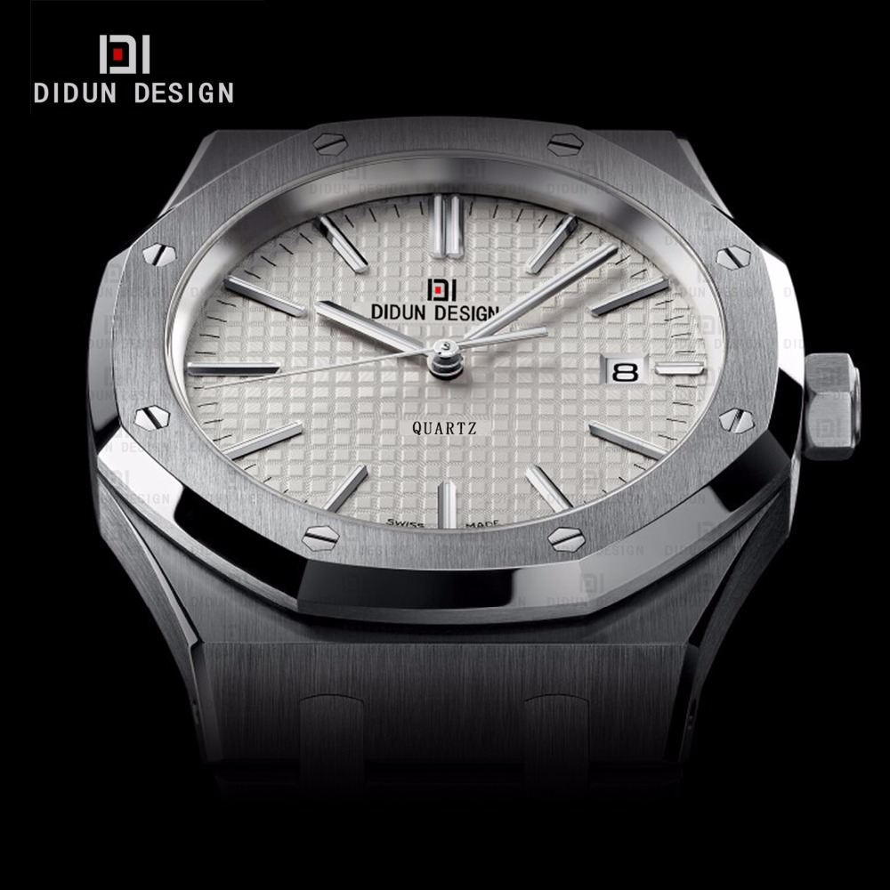 ФОТО DIDUN Mens Simple Watches Top Brand Luxury Quartz Watches Men Business Dress Steel Wristwatch  Luminous 30m Water resistant