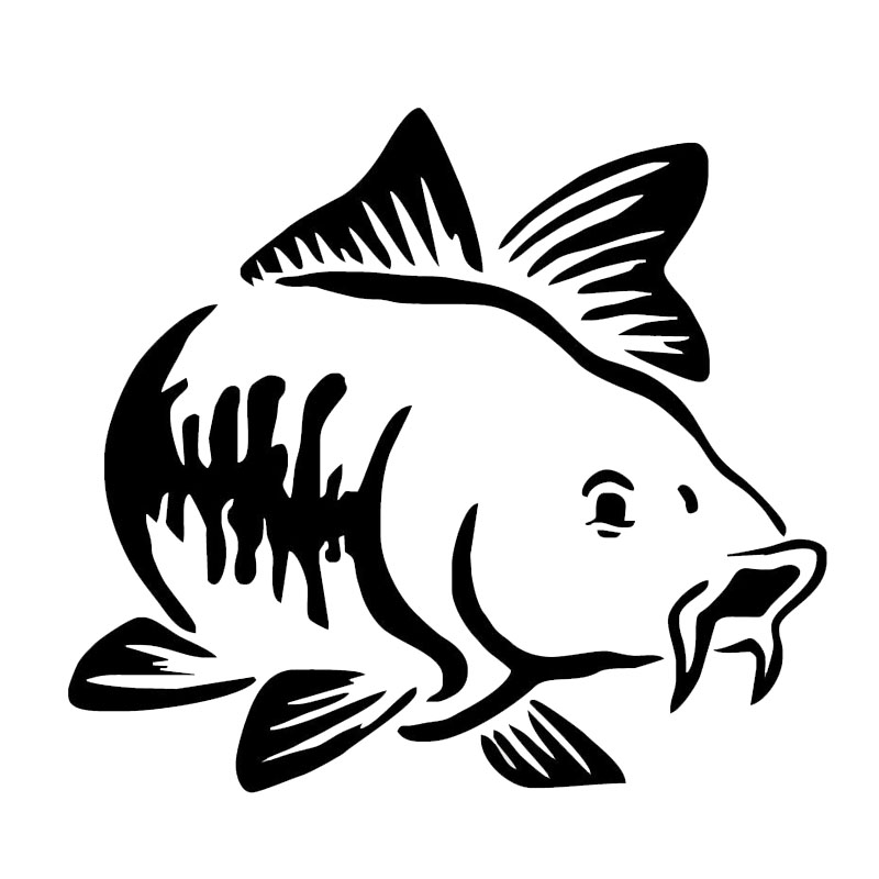 13.8*12.5CM Carp Fish Animal Window Stickers Creative Personality Car Styling Decoration Accessories S1-0007