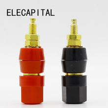1pair(black+red) Terminals Red Black Connector Amplifier Terminal Binding Post Banana Speaker Plug Jack