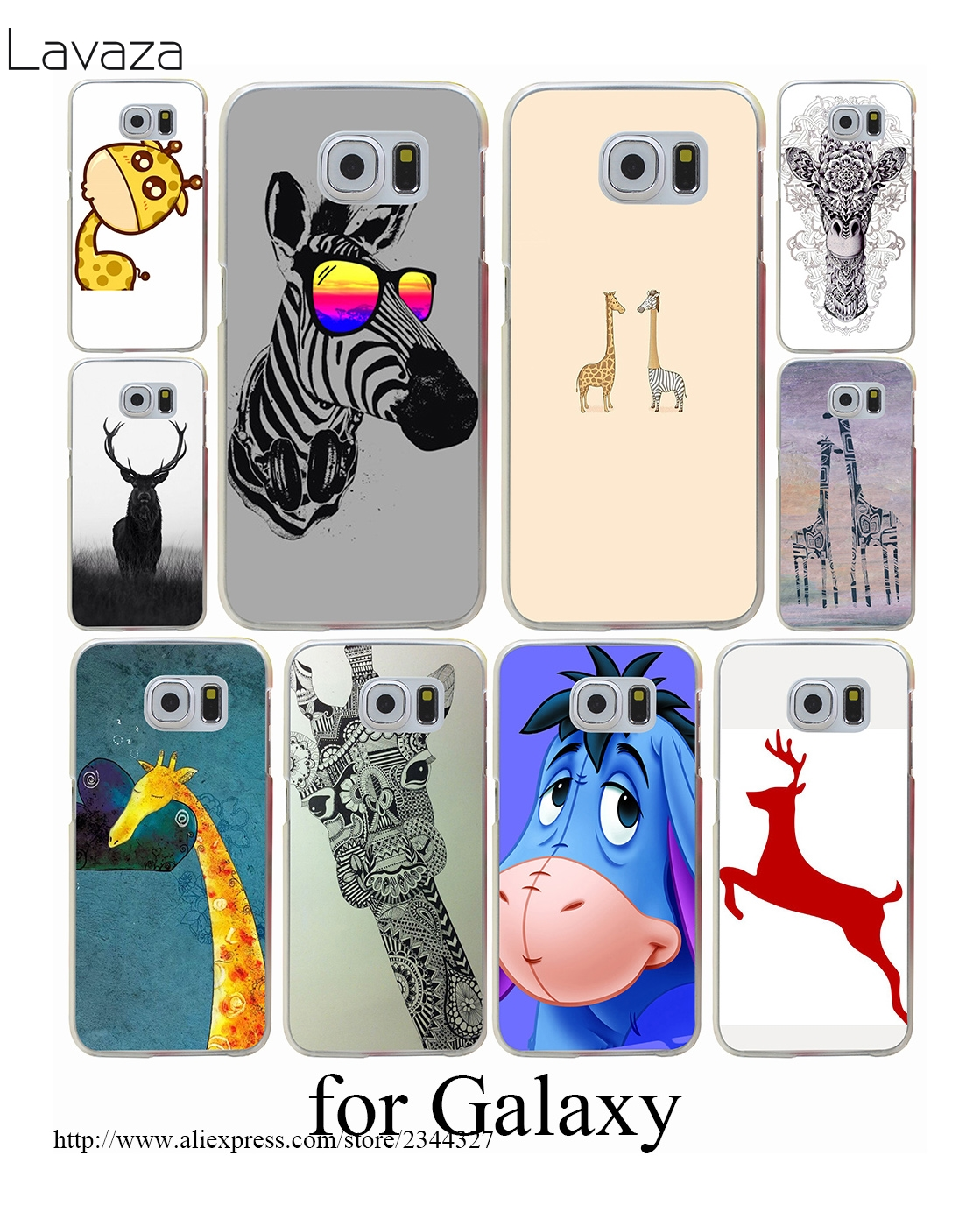The giraffe bite a thing Hard Transparent Case Cover for Galaxy S3 S4 S5 & Mini S6 S7 Edge Plus Case Cover