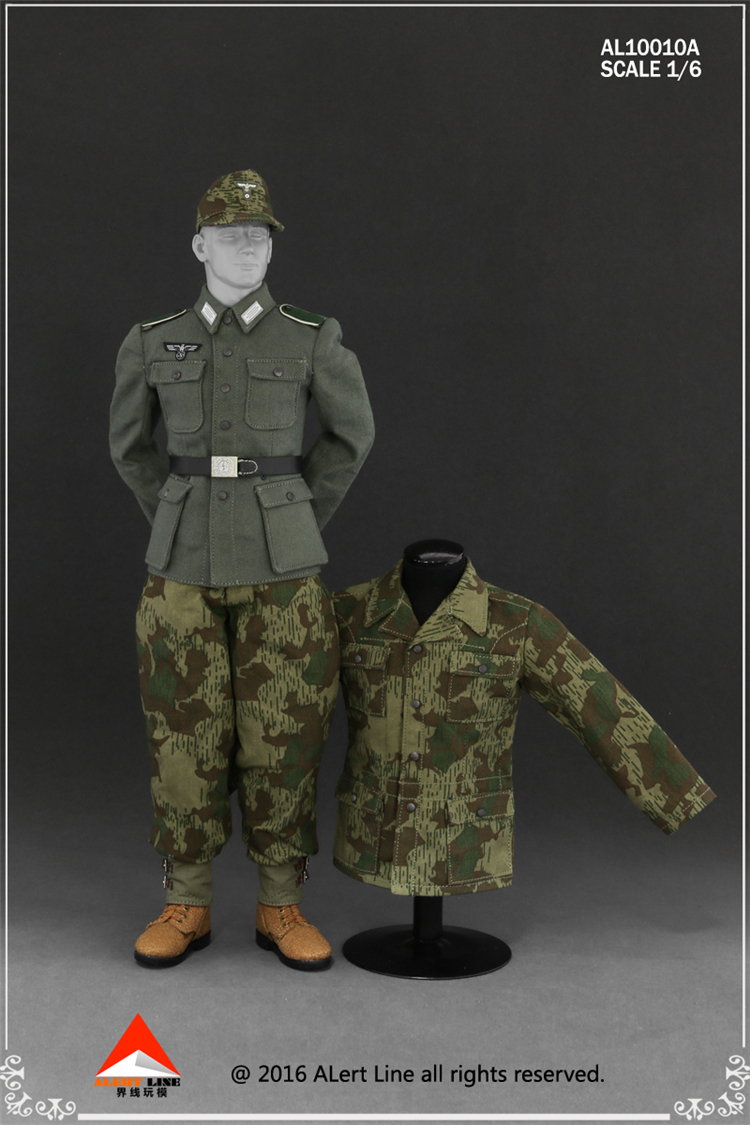 1/6 AL10010 A/B WWII German Wehrmacht and the SS Camouflage Uniform Suit Model for 12 inches Male Action Figure 1 30 wwii german mechanized forces captured the urban combat scenarios alloy model suits the scene fm
