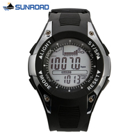 Sunroad FX702A Waterproof Multifunction Digital Fishing Watch All In One 3ATM Barometer Altimeter Thermometer Record Watch