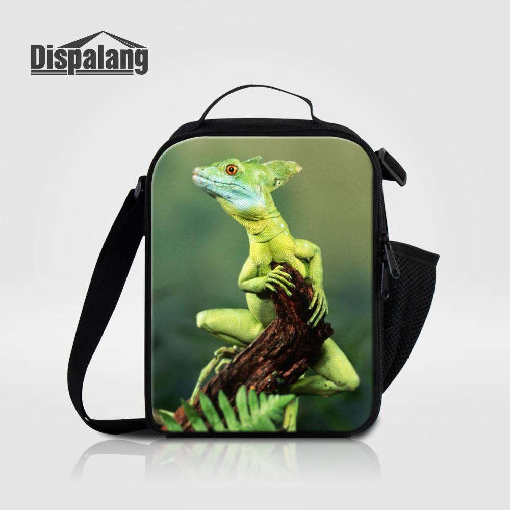 Мужские Термо-холщовые сумки для ланча, лисы, волка, динозавра, змеи, для мальчиков, сумка-холодильник для еды, пикника, Детская маленькая сумка-Ланч-бокс на молнии для школы - Цвет: Lunch Bag07