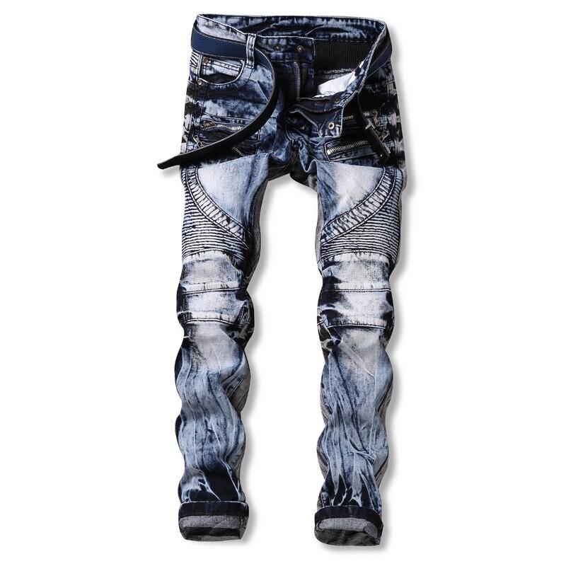 2017 Men Jeans Ripped Biker Hole Denim Patch Harem Straight Punk Rock Slim Fit Classic Hip Hop Blue Jeans For Men Pantsf 2017 fashion patch jeans men slim straight denim jeans ripped trousers new famous brand biker jeans logo mens zipper jeans 604