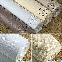 Beibehang בעובי רגיל נייר שאינו ארוג טפט סלון חדר שינה טפט מלון מלון חנות בגדי לבן טהור