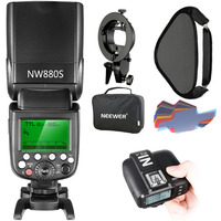 Neewer 2,4G беспроводной 1/8000 HSS ttl Master/Slave Flash комплект Speedlite для камеры sony с новым Mi Shoe