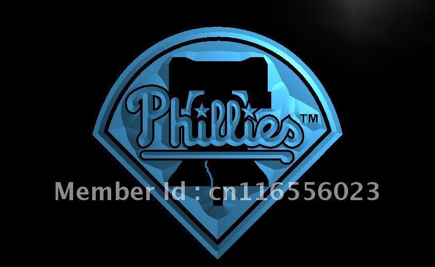 LD139 Philadelphia Phillies Bar Pub NEW Light Sign Home