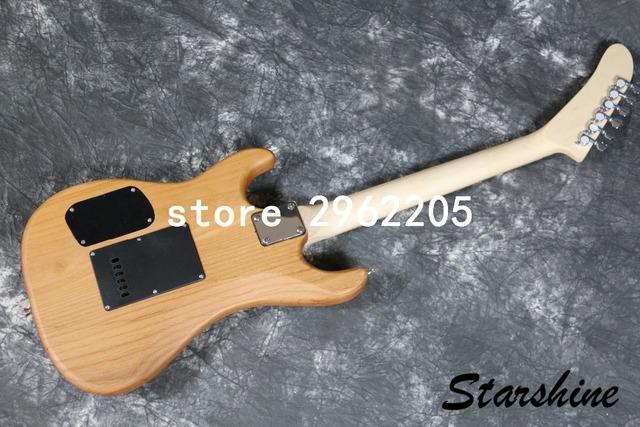 Starshine darmowa wysyłka gitara elektryczna olcha ciała klon podstrunnica dobrej jakości tanie i dobre opinie AL-21 Electric Guitar Maple Alder Beginner Professional Performance Unisex Home-schooling Closed Knob Passive Closed Type