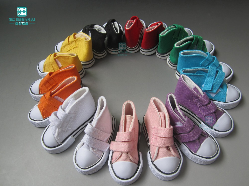 Doll Accessories Mini Shoes wholesale ulticolor 7.5cm Canvas Shoes - Dolls and Stuffed Toys
