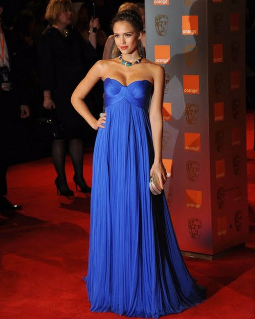 2017 Royal Blue Empire Maternity Evening Dresses Sweetheart Ruched ...