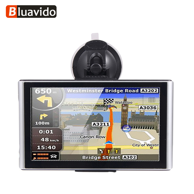 все цены на Bluavido 7.0 Inch Free Map GPS Navigation Android 512M/8G Full 1080P Car DVR Video Camera Recorder WiFi vehicle Navigator онлайн
