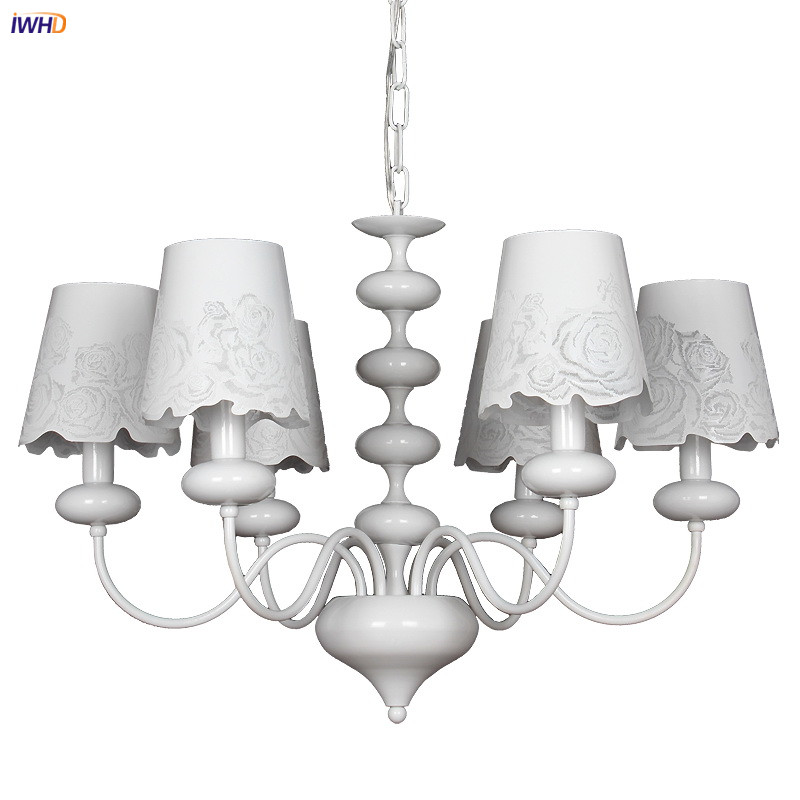 IWHD American Country White Chandelier For Kitchen Bedroom Living Room Cafe Nordic Loft Retro LED Chandeliers Lustres ModernoIWHD American Country White Chandelier For Kitchen Bedroom Living Room Cafe Nordic Loft Retro LED Chandeliers Lustres Moderno