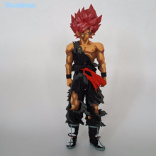 Dragon Ball Z Action Figure Son Goku Red Hair Zamasu PVC Figure Toy 340mm Anime Dragon Ball Super Black Goku Model DB71