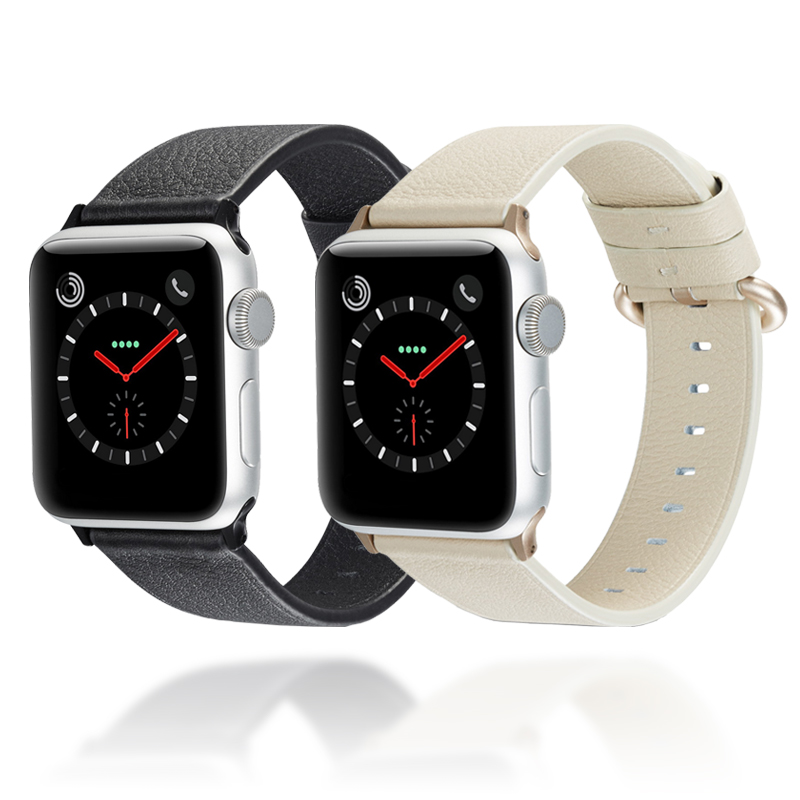 Leather Watch bands For apple watch band 42mm & for 44mm Bracelet iwatch series 3 2 1 38mm 40mm
