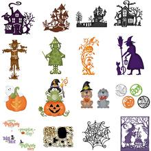 Halloween Hollow Metal Cutting Dies Scrapbooking Dies Metal Cutting Dies Cut New 2019 For DIY Greeting Card Decorations