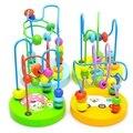 Crianças Bebê Crianças Colorido Mini De Madeira Ao Redor Contas Educacional Brinquedo