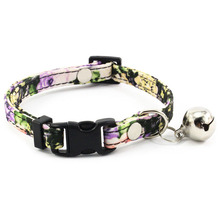 Floral Collar for Small Dogs with Bell Fashion Dog For Puppies Cats Female Accessories Supplies Pet Products