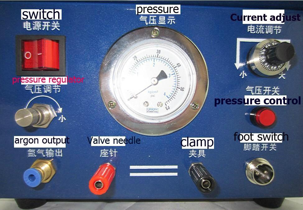 110 V Argon Mig Machine De Soudage, bijoux chaîne en or collier faisant la machine mini électrique argon soudeur, arc machine de soudage par points