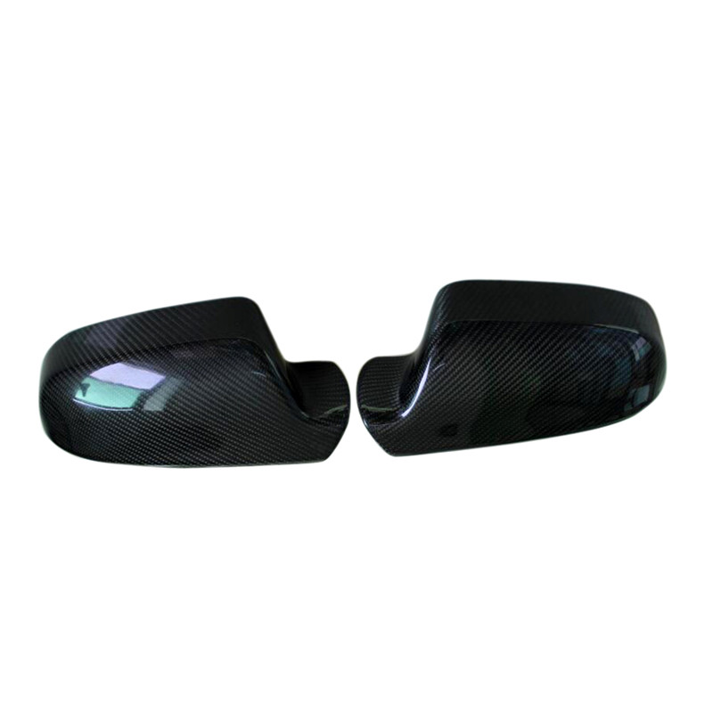 Car styling!!For Audi A4 2013-2015 Carbon fiber Side Mirror Rearview Rear View Cover Trims 2pcs