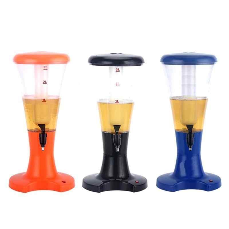 3L שולחן יין בירה מגדל משקאות מיץ Dispenser עם LED צבעוני Shinning אורות חדש באר Dispenser