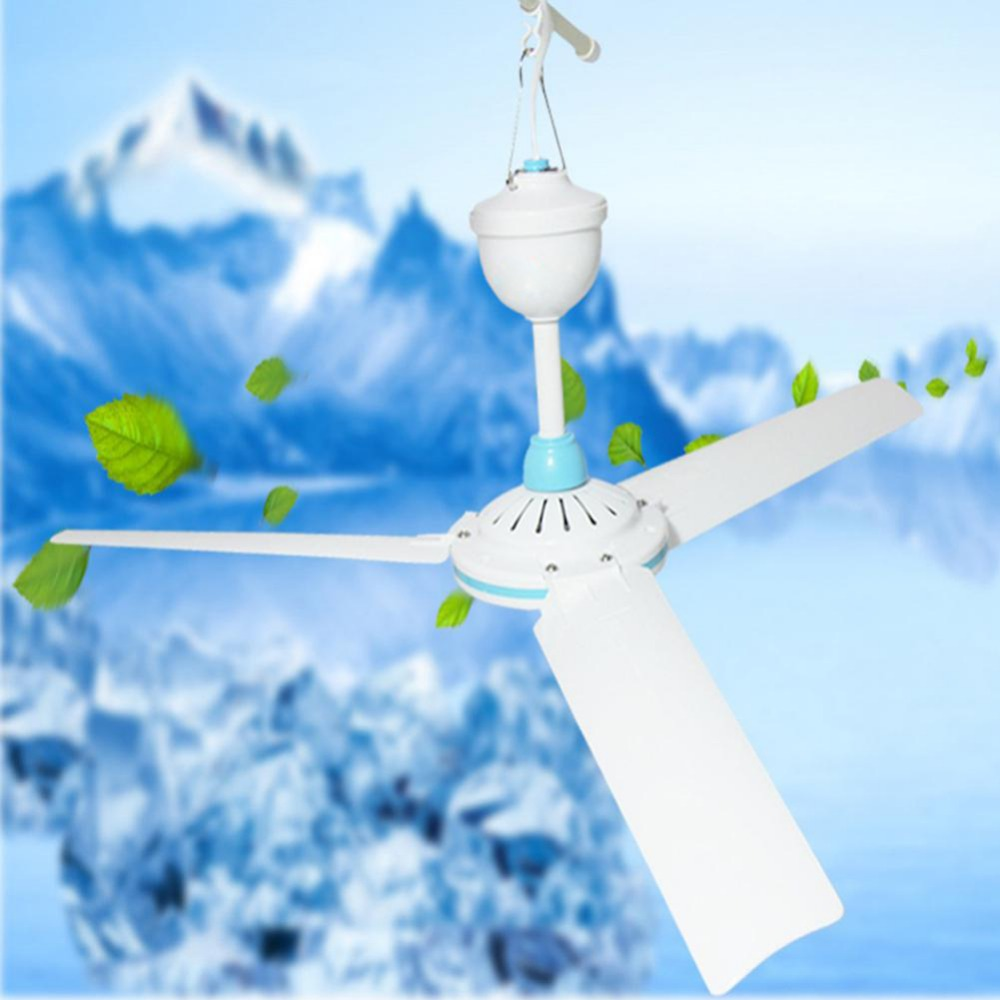 DC12V Ceiling Fan 3 Blades 6w Plastic Energy Saving Mini Ceiling Fan Household Camping Portable Fan