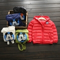 Winter New Children's Winter Light and Slim Down Jacket Boys Girls Bag-style Hooded Down Kids Winter Outerwear Coat