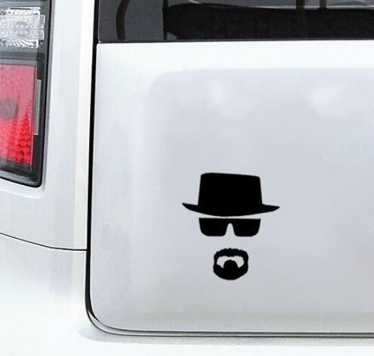 4pcs/lot Breaking Bad Heisenberg Sticker Vinyl Decal For Apple Macbook Air/Pro Laptop Vinilos Paredes Black Wallpaper