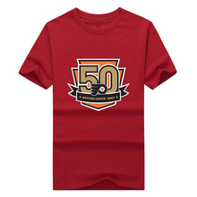New 2017 flyers 50th anniversary logo shirt mens 100% cotton Philadelphia T-shirt