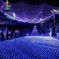 À prova d' água 2 m * 3 m Luzes de Natal Luzes Led Net Fada Malha 204LED Redes De Luzes Do Jardim Ao Ar Livre Natal decoração