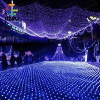 Waterproof 2m*3m 204LED Christmas Led Net Lights Fairy Lights Mesh Nets Fairy Lights Outdoor Garden Christmas Decoration