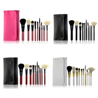 10pc Makeup Brushes Set With Bags Cosmetic Maquiagem Paleta De Sombra Powder Eyebrow Foundation Eyeshadow Matte